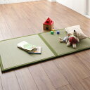 出し入れ簡単 床面吸着 軽量 ユニット畳 Hanabishi ハナビシ 2枚セット 畳 い草 マット ユニット おしゃれ 日本製 軽い コンパクト お昼寝マット モダン 和室 ナチュラル