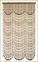 昭和レトロの一品!手作り国産 Sー615 木珠のれん!ロングスケールタイプ 送料無料