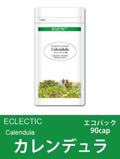 Vine to vine skin ECLECTIC Calendula (pot Marigold, Calendula officinalis ) FFD a capsule-type Eco Pack 90 cap