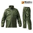ショッピングポンチョ マック(Makku) ワークス レインスーツ ユニセックス M オリーブドラブ AS-4400
