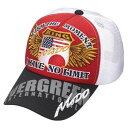 エバーグリーン(EVERGREEN) モード メッシュキャップ タイプ2 フリー レッド×ホワイト×ブラック