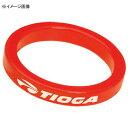 TIOGA(タイオガ) HDW01803 アルミ スペーサー 5mm レッド