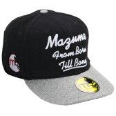 MAZUME(マズメ) FLAT CAP(フラットキャップ) フリー ブラック MZCP-246-01