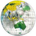 イガラシ 地球儀ボール ビーチボール 40cm 40cm クリア BGP-240