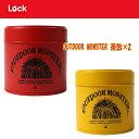Lock(ロック) OUTDOOR MONSTER茶缶×2【お得な2点セット】 レッド×ブラック TEA-001+TEA-002【あす楽対応】