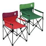 Coleman(Coleman)椅子Coleman(Coleman)drinks tray附着苗条椅子 ★2把组套★绿色×1,红色×1[【】Coleman(コールマン) カップホルダー付きスリムチェア【お得な2点セット】 グリーン×1、レッド×1 2000010512200001051