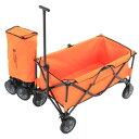 ドッペルギャンガーアウトドア フォールディングキャリーワゴン オレンジ ブラック