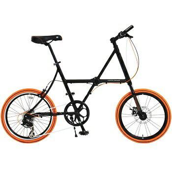 ドッペルギャンガー(DOPPELGANGER) FX12 Rennfahrer(レンファーラー) 【20インチ 折りたたみ自転車】 20インチ ブラック×オレンジ ドッペルギャンガー(DOPPELGANGER) 折りたたみ自転車