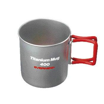エバニュー チタンマグカップ400FH RED EBY267R
