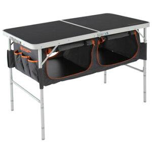 ドッペルギャンガーアウトドア ストレージアウトドアテーブル ブラック オレンジ
