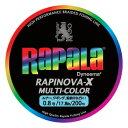 Rapala(ラパラ) ラピノヴァ・エックス マルチカラー 200m 0.8号/17lb マルチ R...