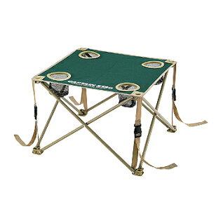 キャプテンスタッグ コンパクト テーブル ドリンク ホルダー 折りたたみ グリーン