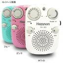 ハピソン(Hapyson) LEDライト付防水ラジオ ブルー YH-101-B