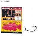 カツイチ(KATSUICHI) キロフック WORM 17 #1/0 ブラック
