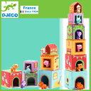 DJECO ジェコ 知育玩具 タパニファーム 6ブロックス キューブ DJ09108