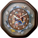 クオーツ式壁掛け時計 ワンピースからくり時計 4MH880-M06 リズム時計 RHYTHM