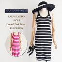 【Ralph Lauren Sport】ラルフローレン スポーツ ボーダー タンクトップ ワンピース/BLACK・PINK【あす楽対応】