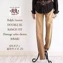 【SALE】【RRL by Ralph Lauren】ラルフローレン DOUBLE RL ダブルアールエル RANCH FIT ダメージ カラーデニム/KHAKI