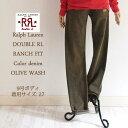 【SALE】【RRL by Ralph Lauren】ラルフローレン ダブルアールエル ランチフィット カラージーンズ/OLIVEBROWN