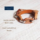 【SALE】【BLUE LABEL by Ralph Lauren】ラルフローレン リザードレザー&ウッド ブレスレット/BROWN【あす楽対応】