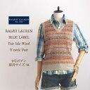 【BLUE LABEL by Ralph Lauren】ラルフローレン ブルーレーベル フェアアイル ニット ベスト【あす楽対応】セーター