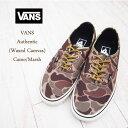 【VANS】 バンズ Authentic オーセンティック ワックスキャンバス スニーカー/CAMO