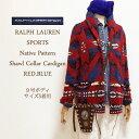 【SALE】【Ralph Lauren Sport】ラルフローレン スポーツ ネイティブ柄 ショールカラー カーディガン/RED【あす楽対応】セーター