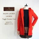 【SALE】【LAUREN by Ralph Lauren】ローレン ダッフル ニット コート/ORANGE【あす楽対応】セーター