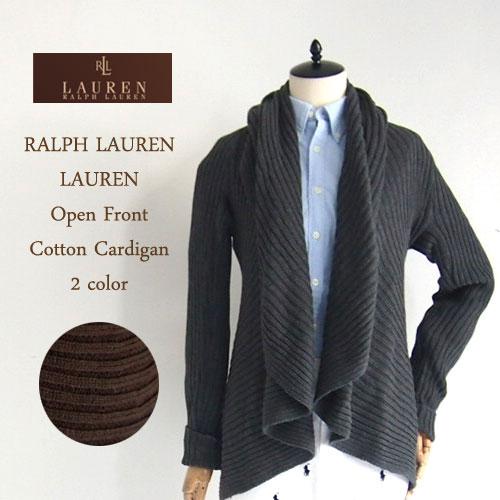 【SALE】【LAUREN by Ralph Lauren】ラルフローレン ローレン リブ編み オープンフロント ニット カーディガン/2色セーター