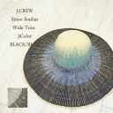 ショッピングストローハット ジェイクルー レディース ワイドトリム グラデーション ペーパーストローハット J.CREW Wide Trim Paper Straw Hat