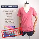 【メール便送料無料!】OUTLET ラルフローレン スポーツ レディース ピマコットン Vネック TシャツRalph Lauren SPORT V-neck T-ShirtsS…