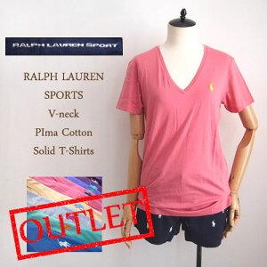 ラルフローレン スポーツ レディース ピマコットン Tシャツ ShirtsSALE