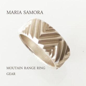 瑪麗亞 · 薩莫拉山脈銀環瑪麗亞 · 薩莫拉 · 純銀山脈環/齒輪