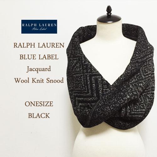【SALE】【BLUE LABEL by Ralph Lauren】 ブルーレーベル ミックスニット デザイン スヌード/BLACK【あす楽対応】セーター