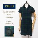 ラルフローレン ポロ レディース ロゴエンブレム ポロシャツ ワンピース/ブラック/グリーンPOLO by Ralph Lauren Polo Dress