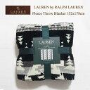 ラルフローレン ローレン フリース スロー ブランケット 152×178cm/ネイティブ柄 ブラック系LAUREN by Ralph Lauren Throw Blanket