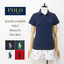 【メール便送料無料!】ラルフローレン レディース ポニーワンポイント刺繍 スキニーフィット ポロシャツRalph Lauren Skinny Fit Polo…