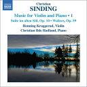 作曲家名: Sa行 - シンディング:ヴァイオリンとピアノのための作品集1