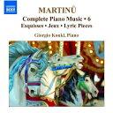 Instrumental Music - マルティヌー:ピアノ作品全集 第6集