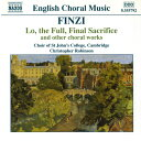 作曲家名: Ha行 - フィンジ:見よ、満ち足りた、最後の犠牲を/マニフィカト/パートソング集 Op.17