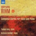 樂天商城 - リーム:ヴァイオリンとピアノのための作品全集