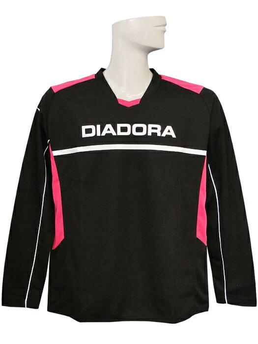 (ディアドラ) DIADORA/ロングスリーブプラクティスシャツ/ブラックXピンク/FP4351-9943/簡易配送(CARDのみ/送料注文後変更/1点限/保障無)