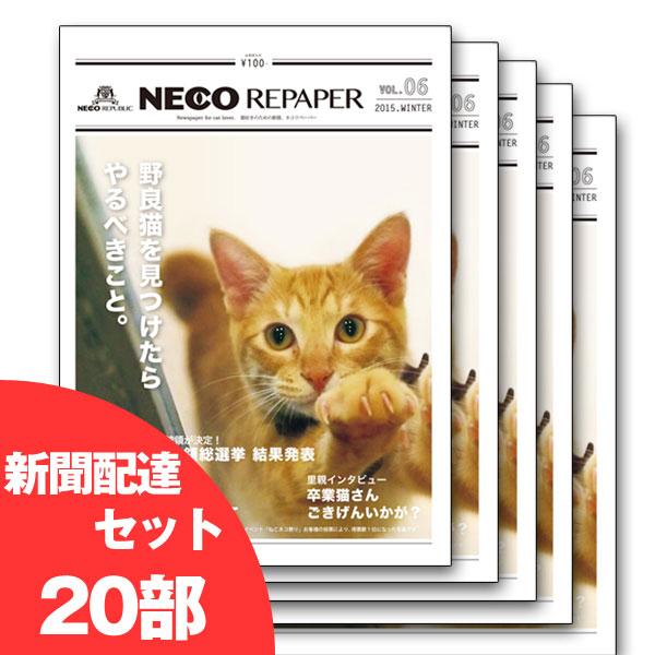 ネコリペーパ−6号 新聞配達20部セット 2015年冬号(GIFU)