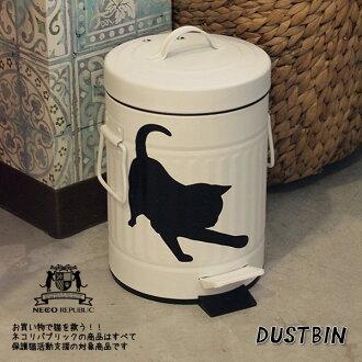 踏板垃圾 bin 垃圾桶 (S) Lidded 時尚垃圾框垃圾桶與角鍋蓋與尿布時尚明智貓可愛放入廁所廢水