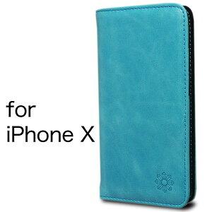 iPhoneX アイフォン ケース カバー 手帳型 本革 レザ