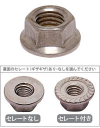Stainless steel flange nut ( serrating please select a ) M8