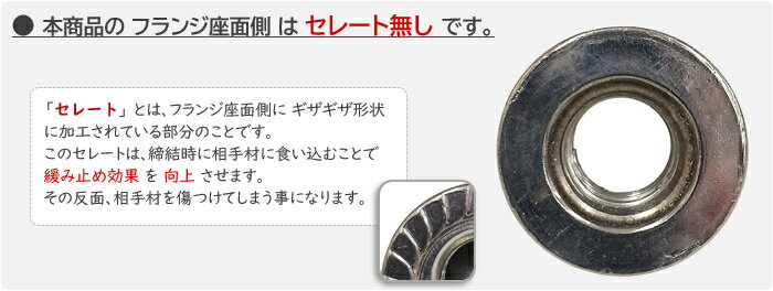 鉄(S45C)/クロメート フランジナットM8...の紹介画像2