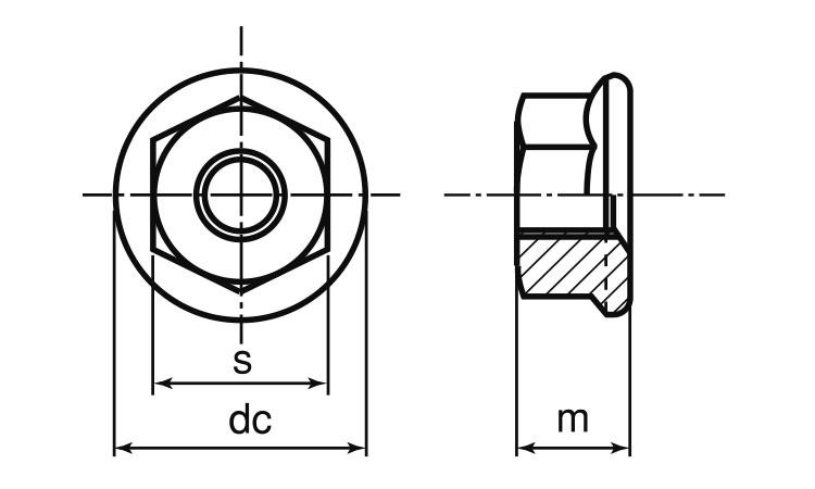 鉄(S45C)/クロメート フランジナットM8...の紹介画像3