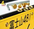 ナンバープレート用ボルト ピン・トルクスサラステンレス(ゴールド) 4本 + 工具付セット