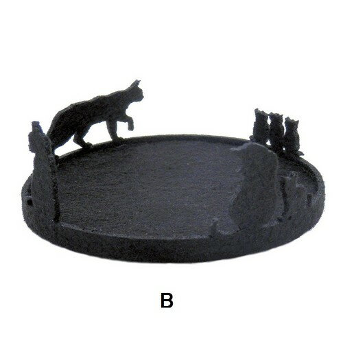 (^O^)/猫の手!!大人気 ☆,,なかよし黒猫  親子 フェルトコースター B★ ☆~~一点限り入荷~~☆